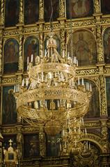 Trinity Cathedral in Pskov Kremlin. Internal interiors