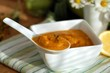 a spoonful of vegetable puree