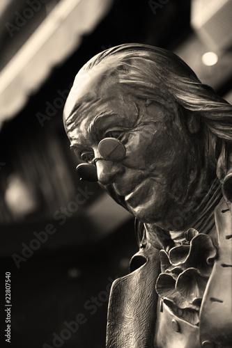 Fotobehang Standbeeld Statue of Benjamin Franklin