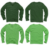 Blank green long sleeve shirts poster