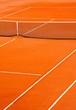 Court de tennis en terre battue