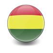 Esfera brillante con bandera Bolivia