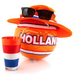 Dressed Dutch soccer ball