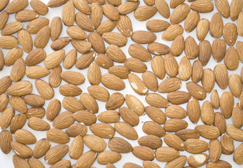 Background from nut. Almonds.