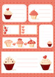 Cupcake labels, vector illustration