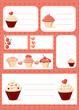 Cupcake labels, vector illustration