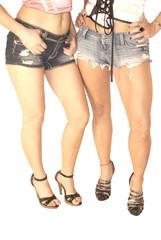 Two Sexy Women Legs in High Heels