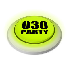 ü30 party neongrün (runder knopf)