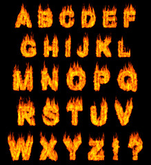 Burning Alphabet