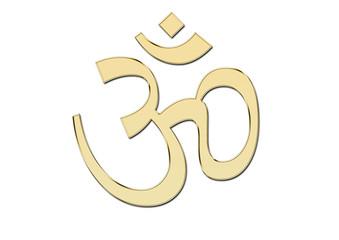 Simbolo hindu de Om en oro