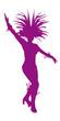 Danseuse de samba silhouette