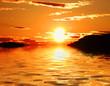 Leinwanddruck Bild - las islas y el sol
