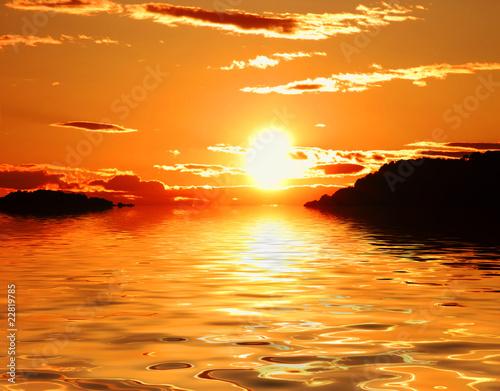 Leinwanddruck Bild las islas y el sol