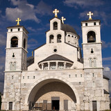 Orthodox Chatedral, Church in Podgorica, Capital city of Montene poster