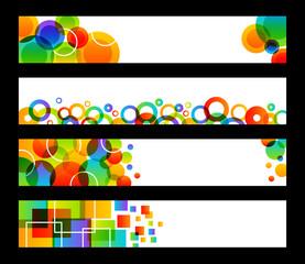 Four Rainbow Banners