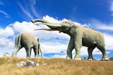 Replica of a mamut in the museum park in Santiago de Cuba poster