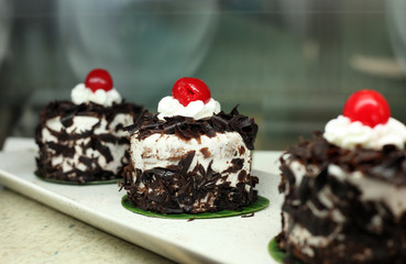 black forest cake small portion
