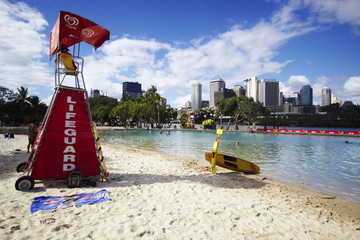 Brisbane; South Bank Beach