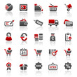 red finance business icons - set 4