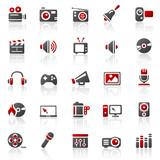Fototapety rot entertainment icons - set 11