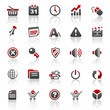 red web internet icons - set 2