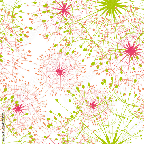 Tapeta Abstract dandelion seamless pattern background