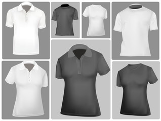 Polo shirt and t-shirt design template (men and women).