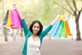 Black woman shopping