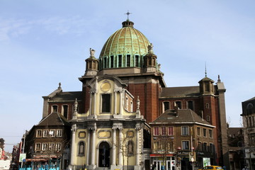 The Basilica of St-Christophe  Charleroi  Hainaut  Wallonia  Be