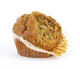 Bitten raisin bran muffin