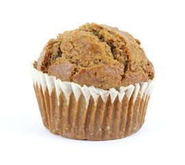 Freshly baked raisin bran muffin