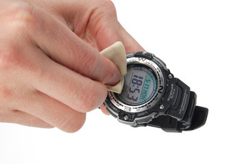 cleaning watch