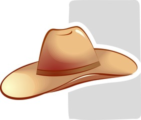 Illustration of dancing hat is placed in white background.