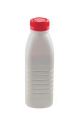 Bottle with fresh  yogurt