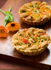 apricot and pistachio  tarts