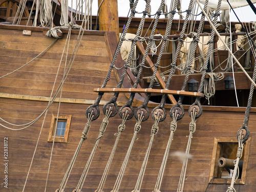 17th Century Galleon Detail