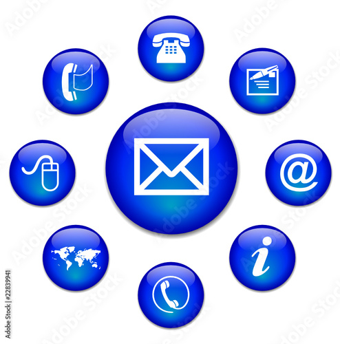 CONTACT web buttons (e-mail corporate us details online)