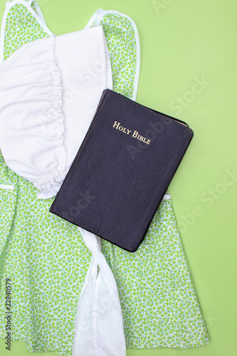 Amish Clothing and Bible