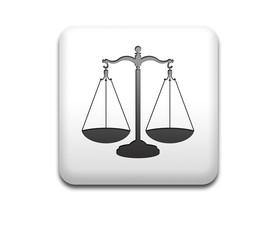 Boton cuadrado blanco simbolo justicia