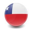 Esfera brillante con bandera Chile