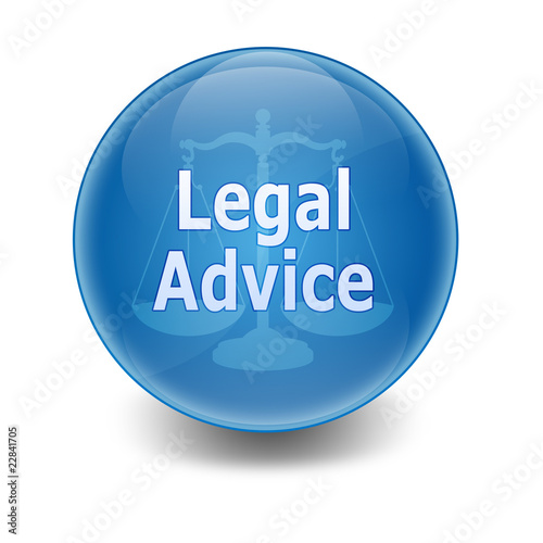"Esfera brillante con texto ""LEGAL ADVICE"""