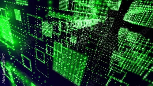 green matrix abstract wallpaper - hdtv format