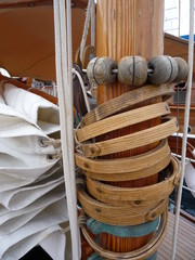 Classic Yacht Sail and Mast
