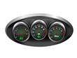 Car Dashboard Dials Vector Illustration
