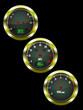 Set of three vector car dashboard dials