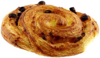 """pâtisserie """"escargot aux raisins"""", fond blanc"""
