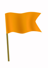 Orange small flag