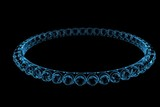 bracelet 3D xray blue transparent