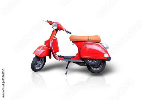 Leinwanddruck Bild Red scooter