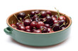 Bowl of Organic Cherries